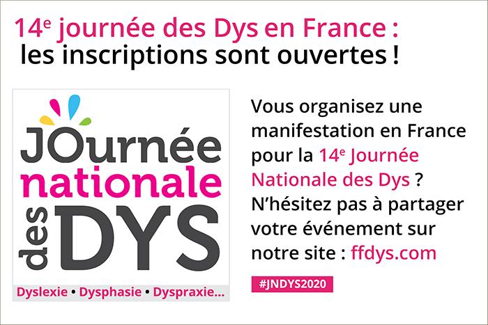 14e Journée Nationale des DYS: les inscriptions sont ouvertes!