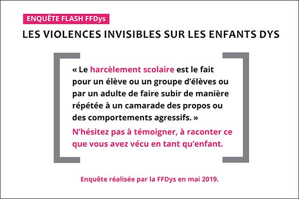 """ENQUÊTE """"Les violences invisibles que subissent les enfants Dys"""""""