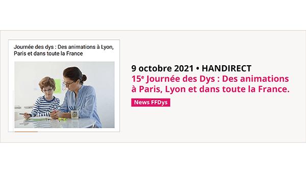 ournée des dys : Des animations à Lyon, Paris et dans toute la France
