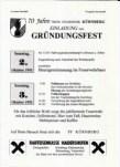 Einladung zum Gründungsfest 1993