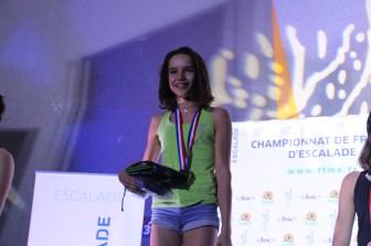 Champ fr bloc 2019 - Oriane Bertone podium (1)