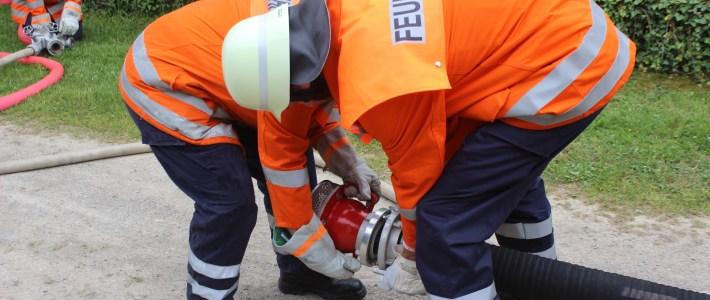 Alarmübung: Scheunenbrand in Eimbeckhausen