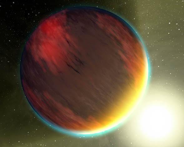 Artist's impression of a hot Jupiter type planet