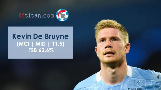Most Popular FPL Players - KDB