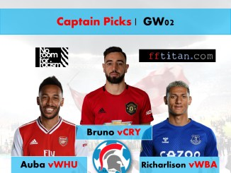 FPL Captain Picks GW02