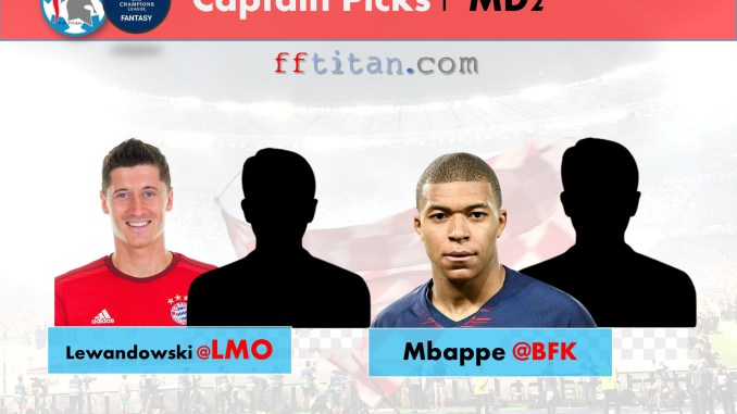 UCL Fantasy Captain Picks MD2