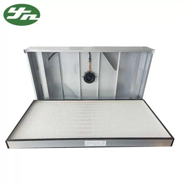 clean room hepa fan filter unit coil filtered exhaust fan aluminium zinc plate