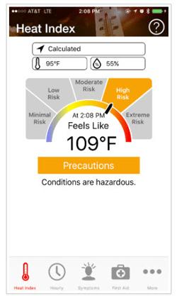 OSHA-NIOSH Heat Safety App