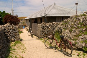 Habitations conservées sur l'ile de Ikkejima