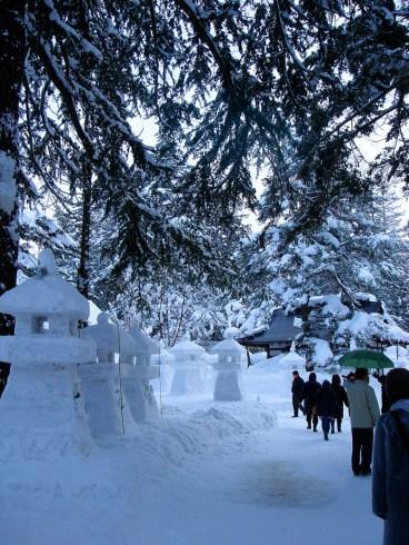 Sculpture de glace et neige ...
