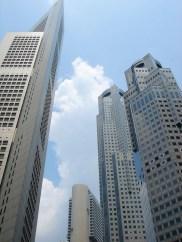 Les tours gigantesques de la CBD, le centre économique de Singapore