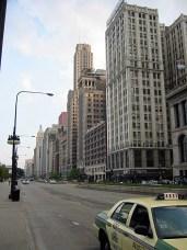 Toujours Michigan Avenue, la rue longe desormais le parc GRANT.