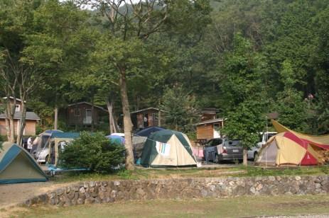 Les tentes...