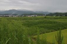 Retour sur la route direction Aso San, une zone volcanique au centre de Kyushu