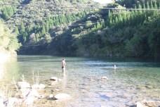 Finalement, la baignade en riviere que l'on attendait, quelque part dans Miyazaki Ken.