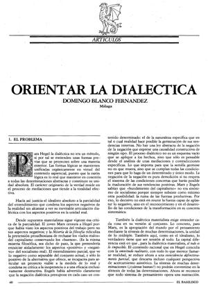 El Basilisco,acerca de la dialéctica