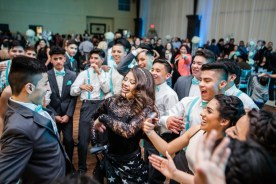 The Quinceanera enjoying her Party!
