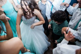 There's the Quinceanera again having a great time.