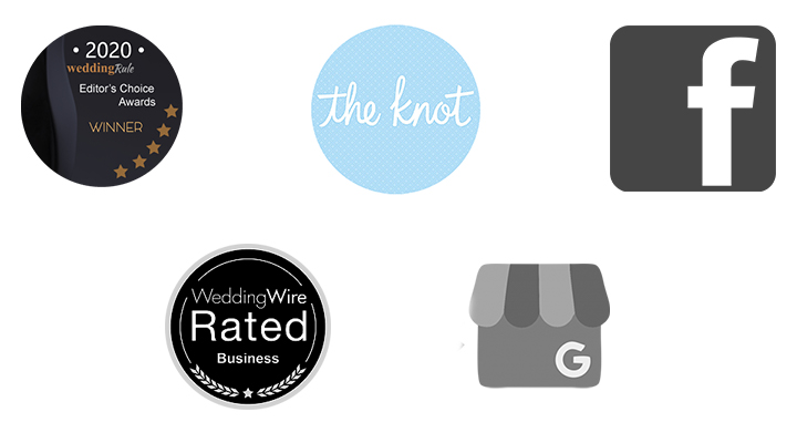 The Knot, Wedding Wire, Google, Facebook, and Wedding Rule
