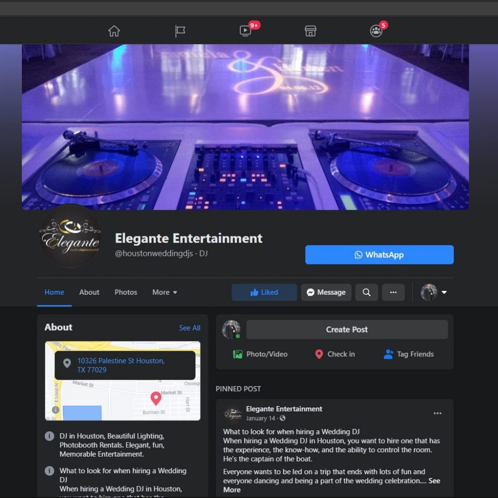 EE Facebook Page edited The Best DJ in Houston for FUN Dancing!!