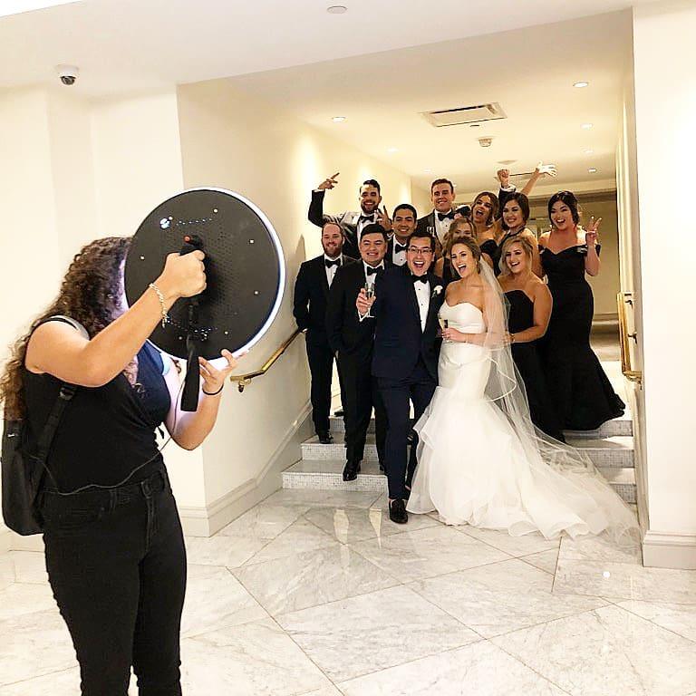 Ring Roamer Photo booth Wedding Rental