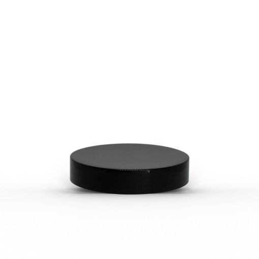 Black 53-400 PP Smooth Skirt Lid with Foam Liner