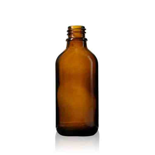 60 ml Euro Round Glass Bottle with 18-DIN Neck Finish