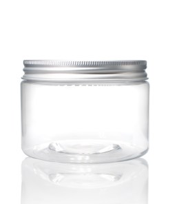 12 oz Clear PET Straight Sided Jars with Lined Aluminum Cap (Set)