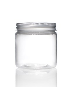 2 oz Clear PET Straight Sided Jars with Lined Aluminum Cap (Set)
