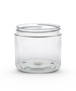 16 oz Clear PET Straight Sided Jar 89-400 Neck Finish