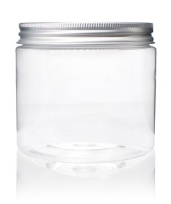 16 oz Clear PET Straight Sided Jars with Lined Aluminum Cap (Set)