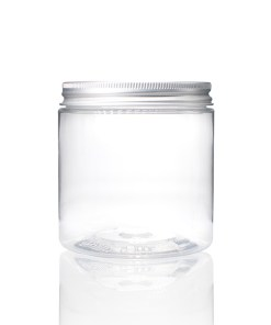 8 oz Clear PET Straight Sided Jars with Lined Aluminum Cap (Set)