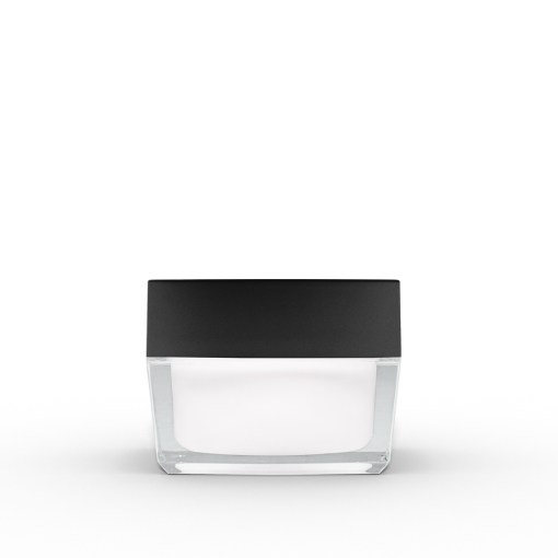 30g Square Acrylic Jar with Black Lid