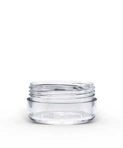 10g Clear Polystyrene Plastic Jar with Lid (Set)