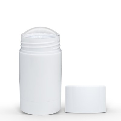 75g White Twist Up Deodorant Tube with White Screw Cap and Disc