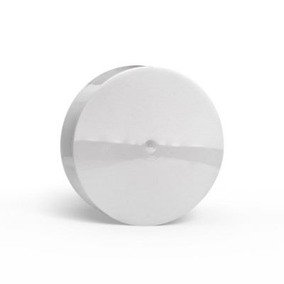 54-400 White PP Child-Resistant Smooth Skirt Lid with PE Foam liner