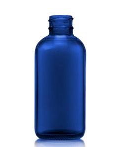 4 oz Boston Round Blue Bottle with 24-400 Neck