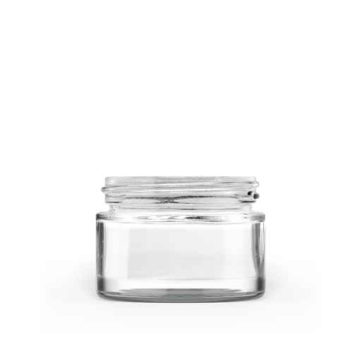40g 50-400 Clear Glass Straight-Sided Round Jar