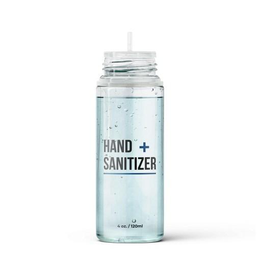 PET Hand Sanitizer Bottle Cap Off