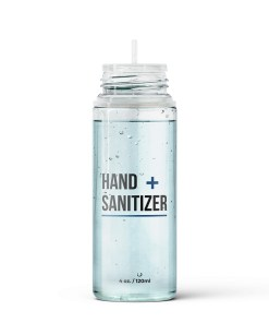 PET Hand Sanitizer Bottle Cap Off