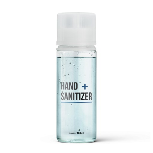 PET Hand Sanitizer Bottle with Clear Flat Cap and Pre-Inserted Tip