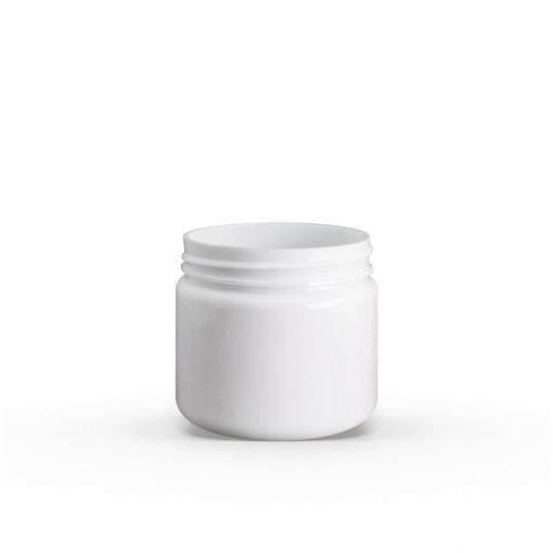 2 oz White PET Straight Sided Jar 48-400 Neck Finish