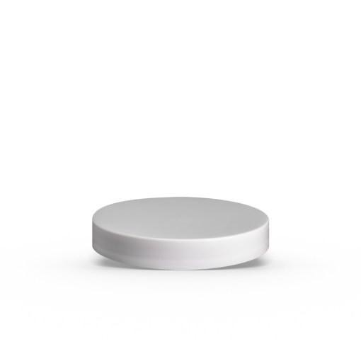 70-400 White Smooth Skirt Lid with (PS) Pressure Sensitive Liner