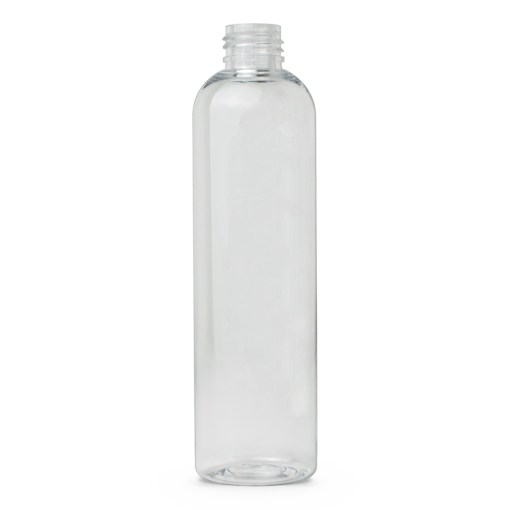 8 oz PET Clear Cosmo Bottle FH Packaging