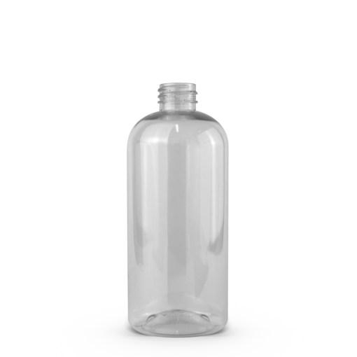 16 oz PET Clear Boston Round Bottle with 28-410 Neck Finish