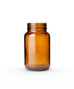 150cc Amber Glass Packer Bottle 45-400 Neck