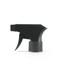 Black 28-410 PP Plastic Ribbed Skirt Trigger Sprayer with On/Off Nozzle and 9-inch Dip Tube