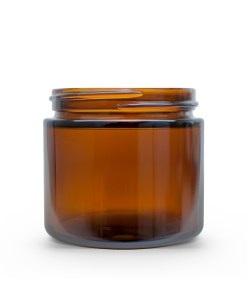 2 oz 53-400 Amber Glass Straight-Sided Round Jar