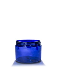 12 oz Cobalt Blue PET Straight Sided Jar 89-410 Neck Finish