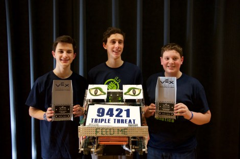 9421, Excellence award, Tournament Champion award and the robot